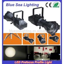 200W LED white LED 4IN1 prefocus profile spot light /studio light