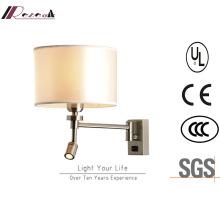 Lámpara de pared de lectura de cabecera de sala de estar del hotel