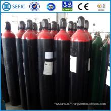 Bouteille de gaz en acier sans couture 50L avec bouchon (EN ISO9809)