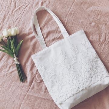 Canvas Bags Embroidery Shopping Handbag Tote Bags