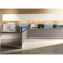 Aluminum kitchen cabinets without paint