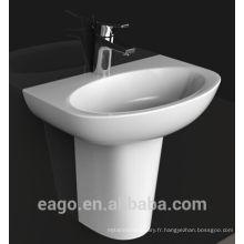 EAGO bassin monotrou en céramique avec demi-piédestal BD379E