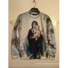 Девы Марии печатных рубашку Пуловер хип-хоп-стрит