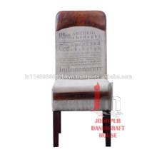 Silla de comedor de cuero impreso de la lona de la vendimia