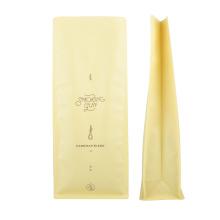 Coffee Tea Snack Dry Food Tobacco Ziplock Compostable Aluminum Foil Packaging Bag