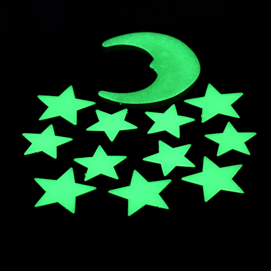 1Set-12-pcs-font-b-Stars-b-font-Moon-Glow-In-The-Dark-Fluorescent-Decal-Plastic