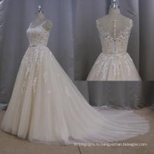 Кружева Свадебное Линия Wedign Платье Платье 2016