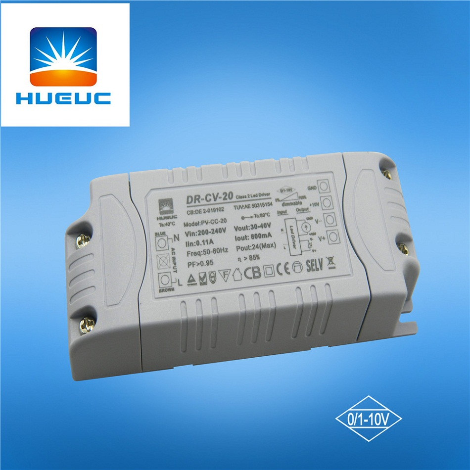 20w 0-10v 10v 12v dimmable switching power supply