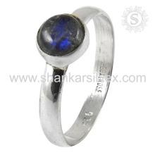 Attrective Labradorit Edelstein Silber Ring Großhandel 925 Sterling Silber Schmuck Indian Handgefertigte Online Silber Schmuck