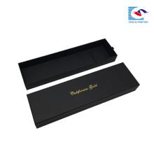 caja de regalo de embalaje de extensión de cabello negro tejido lujo