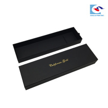 luxo preto tecer a caixa de presente de embalagem de extensão de cabelo