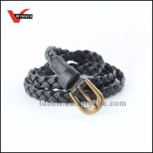 High Quality PU Braided Skinny Belts