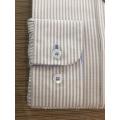 Camisa de rayas teñidas en hilo de algodón 100% femenino