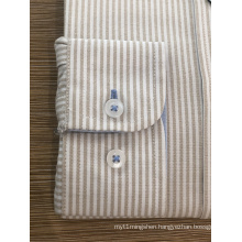 Male 100% cotton yarn dyed stripe shirt