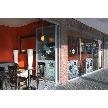 Пескоструйное порошковое покрытие Готовые двойные стеклянные алюминиевые двери