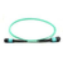 Cordons de raccordement MPO, câble fibre OM3, câbles fibre optique à fibre optique pour réseau FTTH
