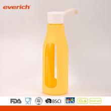 Everich Borosilicate Easy Carrying Glass Water Bottle avec manchon en silicone