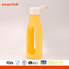 Everich Borosilicate Easy Carrying Glass Water Garrafa Com Manga de Silicone
