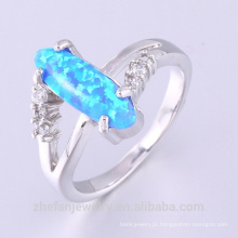Venda quente & de alta qualidade crazy expositor anel mens fire opal jewelry ring
