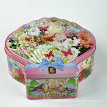 Embalagens de lata de embalagens de biscoito, Recipientes de embalagem extravagantes