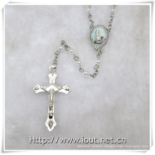Religious Plastic Small Beads Rosary with Pope Francis Connecting and Crucfix (IO-cr381)