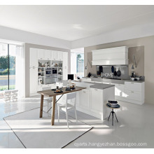 White PVC Melamine Lacquer UV Kitchen Cabinet