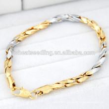 Simple cadena de aleación nuevos modelos de pulsera de oro