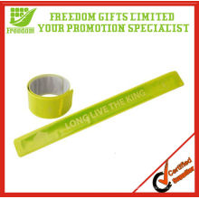 Promotion Customized Logo PVC Reflective Slap Band