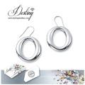 Schicksal Schmuck Kristalle von Swarovski Ohrringe einfache Runde Ohrringe