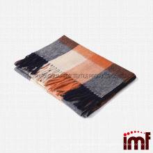 2014 Newest Fashion Men's Tartan Plaid Winter Neck Scarf 100% Mongolian Wool Fabric