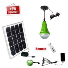 Lâmpada solar com 2 lâmpadas para uso doméstico de área remota de led com carregador móvel