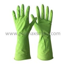 Flocked Green Haushalt Latex Handschuh mit Ce genehmigt