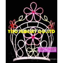 """10 """"tiara de la flor de cristal alto para el adulto"""
