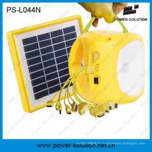Lumière solaire portative de batterie rechargeable de lithium-ion LED avec la charge de téléphone (PS-L044N)