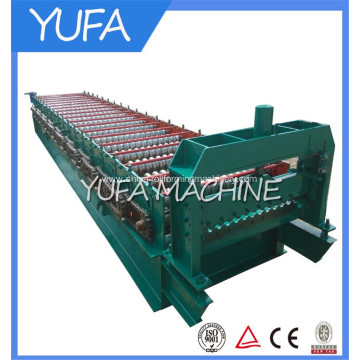 Corrugated steel sheet panel making machine