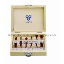 Router Bit Set with Wood Box