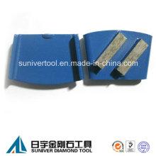 40 * 12 * 12 mm Segment Metall-Boden Beton Schleifen Pads