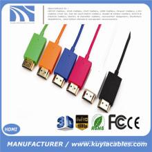1m 1.5m 2m High Speed Super Slim Câble HDMI vers HDMI 1080P Support Ethernet pour téléviseur PS4 Haut-parleur