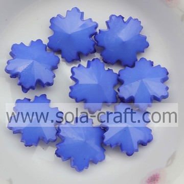 790PCS/Lot 14MM Opaque Blue Chunky Big Snowflake Artificial Acrylic Glass Jewelry Findings Beads