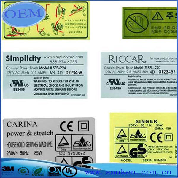 sticker printing for electrical appliance-1