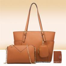 4Pcs Sets Fashion Luxury Popular PU Leather Crossbody Shoulder Bag Clutch Tote Purse Handbags for Womens
