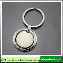 Llavero en blanco de forma redonda de metal