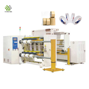 Machine de rebobinage de ruban auto-adhésif en rouleau Jumbo