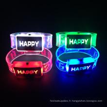 2016 articles de Noël led allument clignotant bracelet led