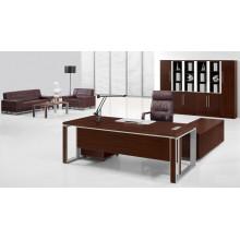 Modern Melamine Brown Executive Table with Aluminum Frame (FOHBE22-B1)