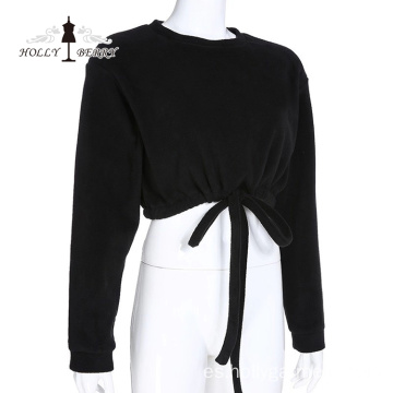 Blusa Elástica Midriff-baring Fashion Girls