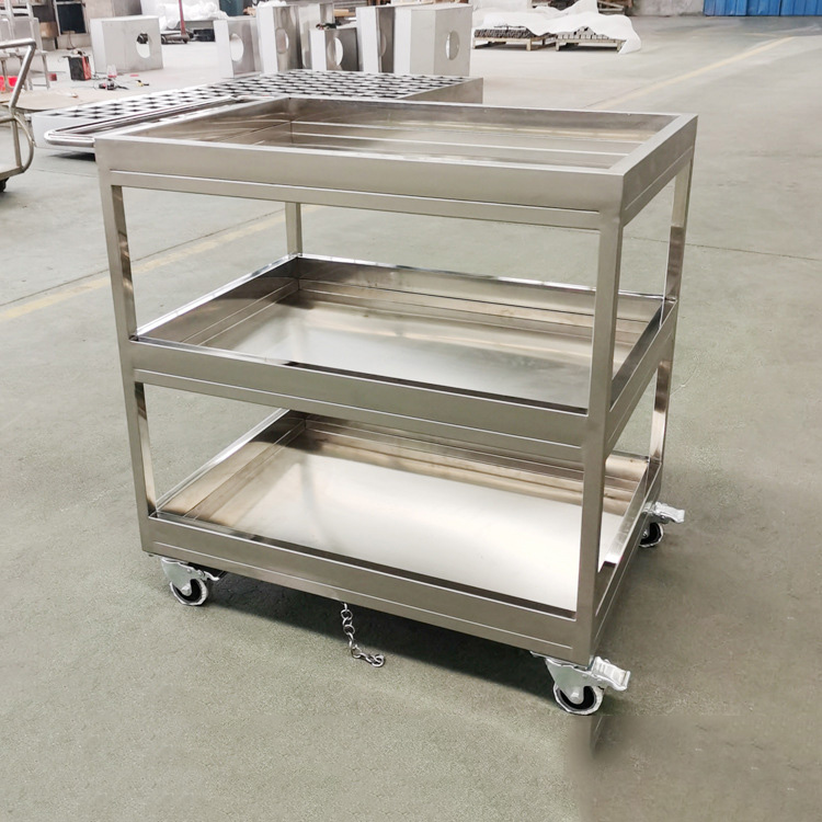 304 stainless steel three-layer trolley wholesale