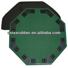 Holdable poker table mat, holdable casino table top with 8 seats
