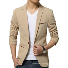 Los hombres de OEM Slim Fit Blazer Fashion Cotton Outwear Blazer