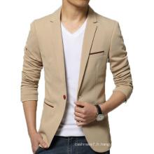 OEM Hommes Slim Fit Blazer Mode Coton Outwear Blazer